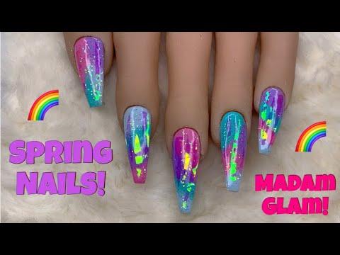 Gel nails - Spring Gel Polish Nails!  Madam Glam  Nail Sugar
