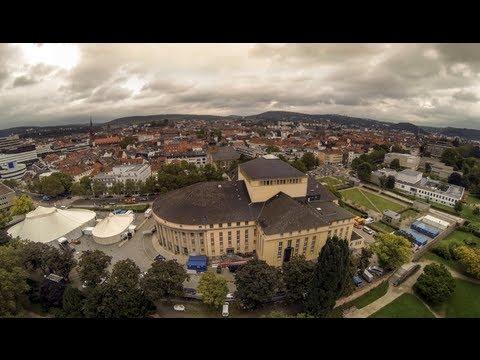 Saarbrücken von oben: Flug über der Innenstadt
