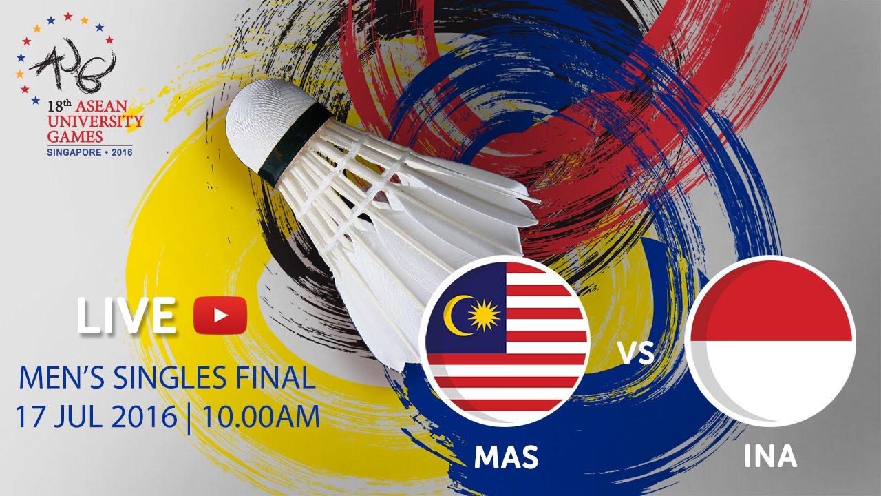 Badminton Men's Singles Finals | 18th ASEAN University Games Singapore 2016