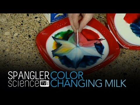Farbwechselnde Milch - Coole wissenschaftliche  Experimente