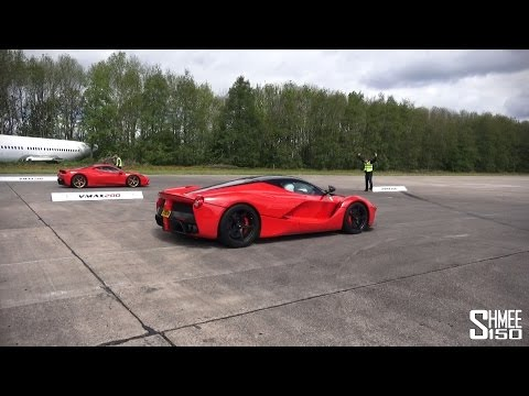 FERRARI LAFERRARI VS 458 SPECIALE | DRAG RACES AT VMAX HYPERMAX @Shmee150
