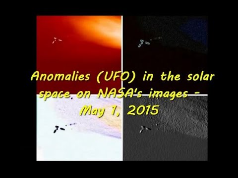Anomalies UFO in the solar space on NASA images – May 1, 2015