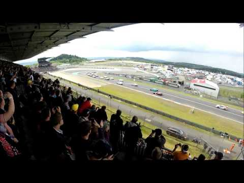 Nurburgring 24hr race 2016 rolling start at the GP main straight grandstand