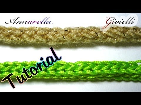 🌻Tutorial tubolare tricotin all'uncinetto 🌻 How to crochet an i cord
