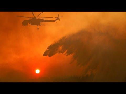 Μάχη με τις φλόγες στη Βορειοανατολική Αττική