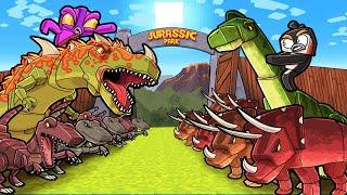 Jurassic Park DINOSAUR Map Wars! (Minecraft)