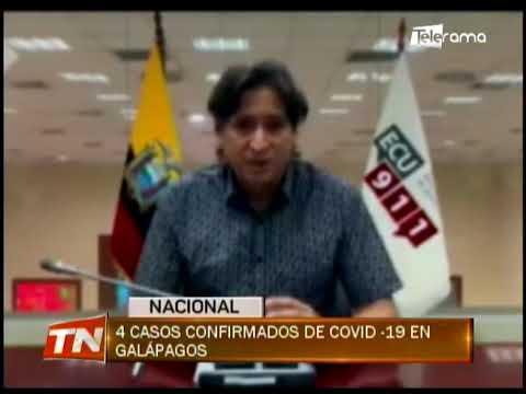 4 casos confirmados de COVID-19 en Galápagos