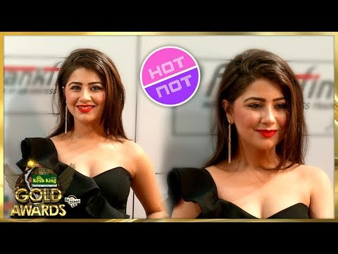 Aditi Bhatia Looks Hot At Zee Gold Awards 2018