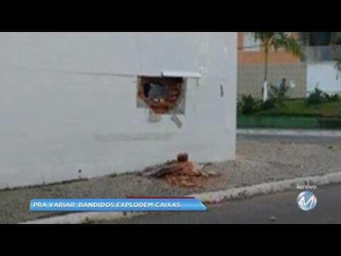 De novo: bandidos explodem caixas em Santana do Jacaré