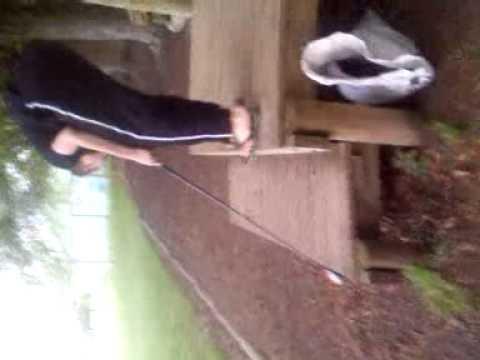 Golfing at school 2