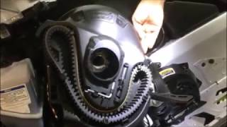 10. Ski-Doo 850 G4 Clutch Guard Remove and Install
