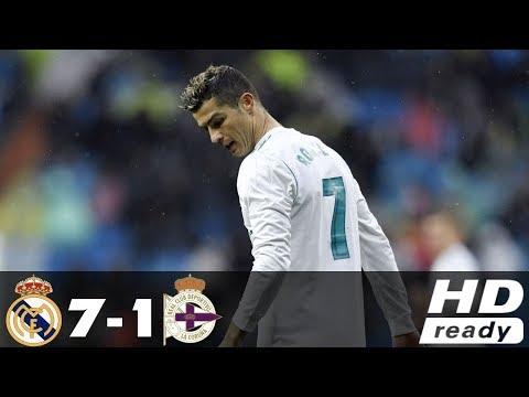 Real Madrid vs Deportivo La Coruna 7-1 - All Goals & Extended Highlights - La Liga 21/01/2018 HD