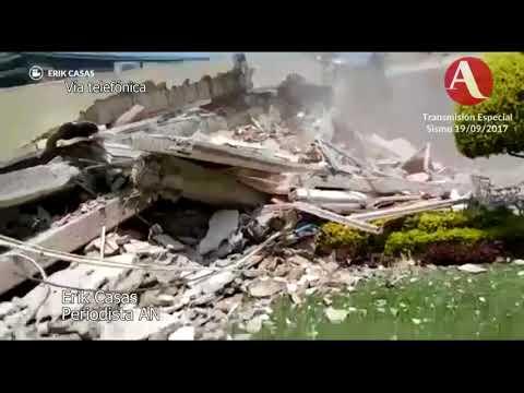 Colapsan edificios en Tlalpan, casi esquina con Taxqueña (видео)