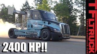 Peak Hill Australia  city photos : 2,400 HP Freightliner Pikes Peak Hill Climb Race Truck Is Porsche Quick!