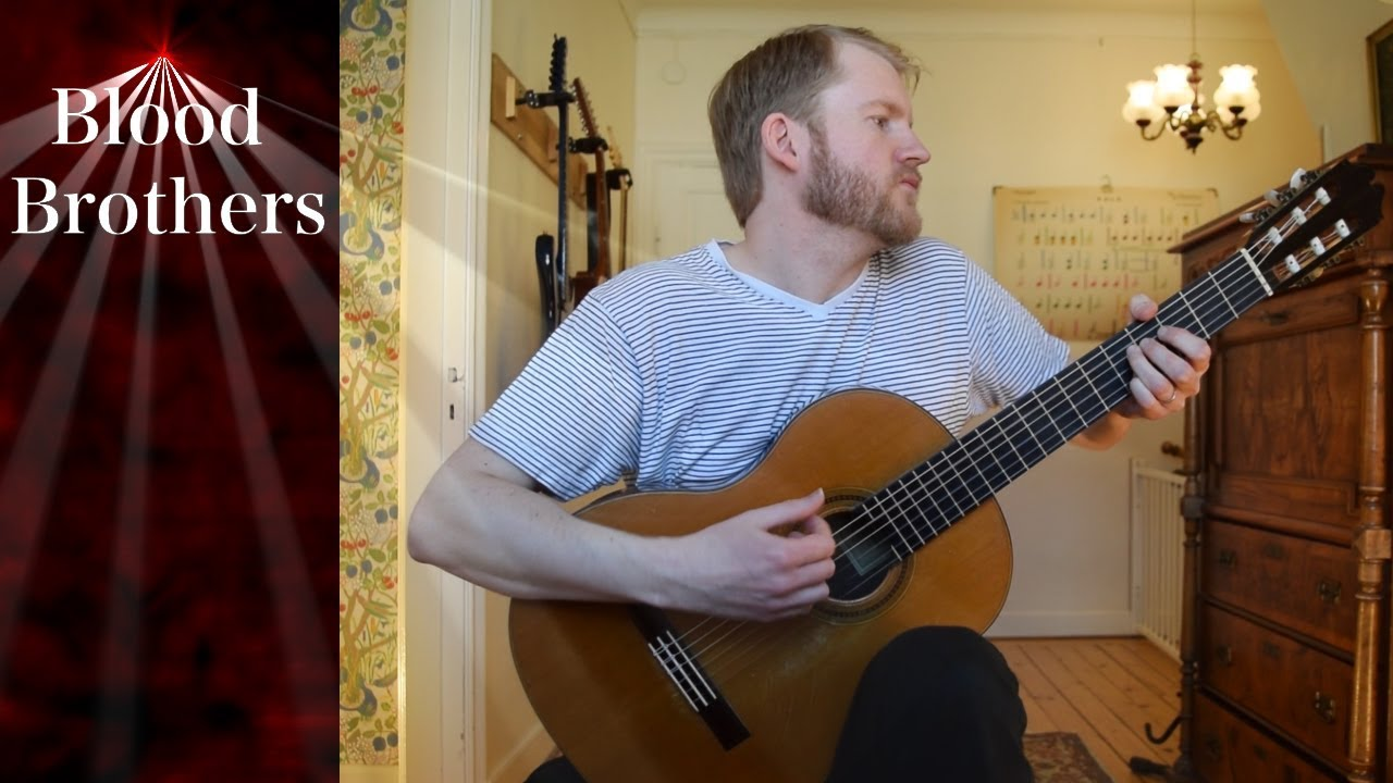 Tommy Emmanuel – Blood Brothers (Acoustic Classical Guitar Fingerstyle Cover)
