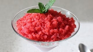 Strawberry Granita Recipe - Frozen Italian Fruit Dessert