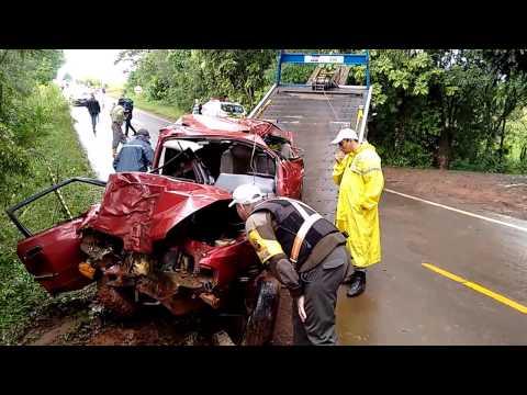 Ibirubá - Carro colidiu contra uma árvore na VRS-324,em Ibirubá,na Região Noroeste Rs. Duas pessoas foram encaminhadas ao hospital em estado grave. Acidente de Hoje de...
