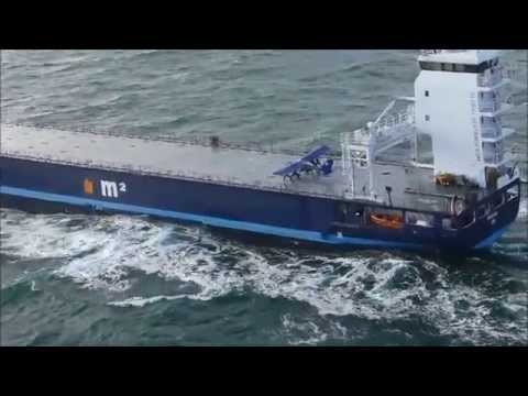 landing - With footage of six cameras including inside the aircraft. Whilst filming a plane flying close to a cargo ship that already had the nickname