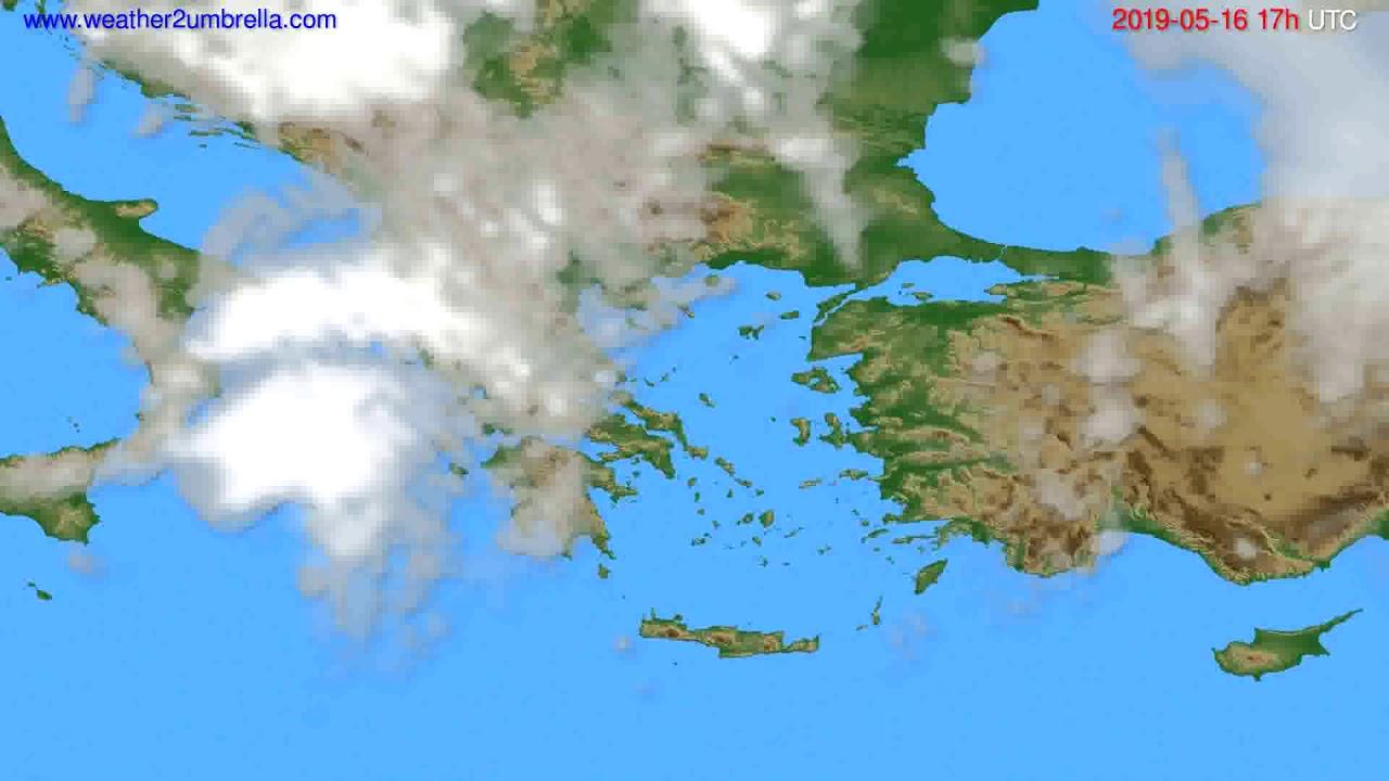 Cloud forecast Greece // modelrun: 00h UTC 2019-05-15