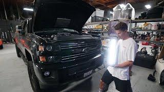 Adding a Light Bar to my Chevy 2500HD!! by TJ Hunt
