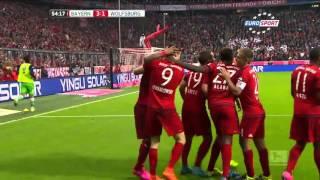 5 goli Roberta Lewandowskiego Bayern Monachium vs VfL Wolfsburg ( 5 : 1)