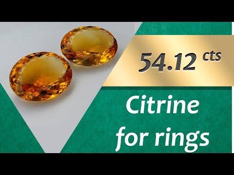 Citrine Rings: Design Unique Rings with Citrine 54.12 Carat
