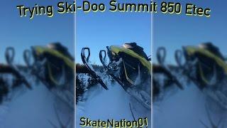 9. 2017 Ski-Doo Summit 850 riding in deep snow