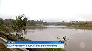 Chuva ameniza tempo seco e eleva nível de mananciais em Marília