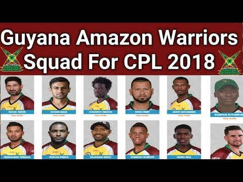 Download Guyana Amazon Warriors full And Real Squad For CPL 2018 | Guyana Amazon Warriors Confirm Squad 2018 HD Mp4 3GP Video and MP3