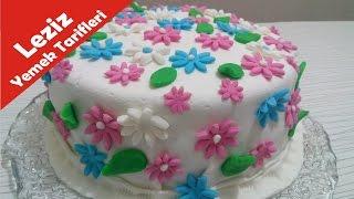 bahar temalı şeker hamuru pasta nasıl yapılır  leziz yemek tarifleri