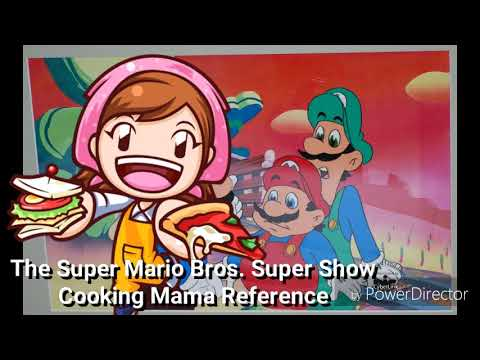 The Super Mario Bros. Super Show - Cooking Mama Reference
