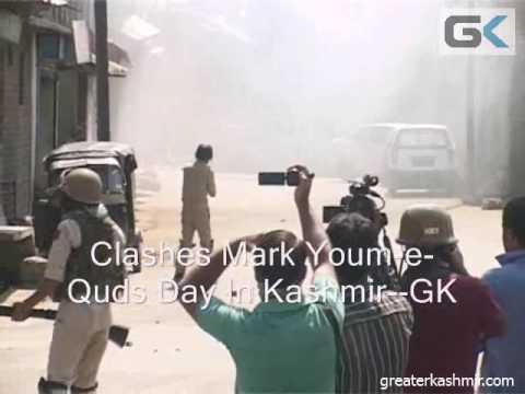 Clashes Mark Youm-e-Quds Day In Kashmir