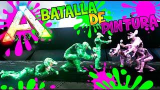 ARK MINIJUEGOS!! NUEVA SERIE?? BATALLA DE PINTURAS!!! ARK SURVIVAL EVOLVED Makiman
