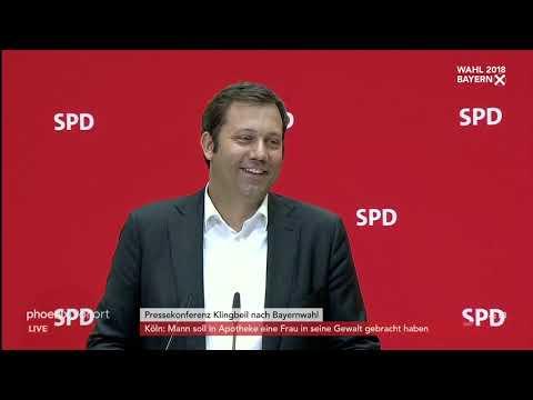 Pressekonferenz der SPD zum Ergebnis der Landtagswa ...