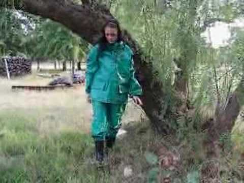 Rainweargirl - This is a heavy duty rainsuit made in South Africa.