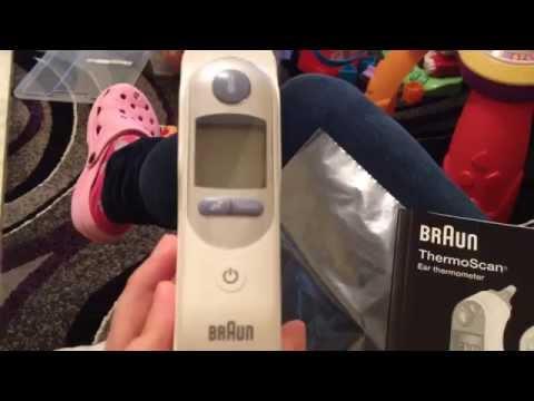 Termometro auricolare braun termoscan