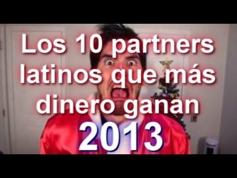 Los 10 partners latinos que más dinero ganan con Youtube en 2013