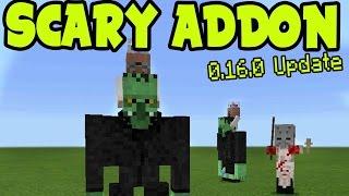 MCPE SCARY ADDON! Minecraft Pocket Edition ADDON and BEHAVIOR PACK! Minecraft PE (Pocket Edition)