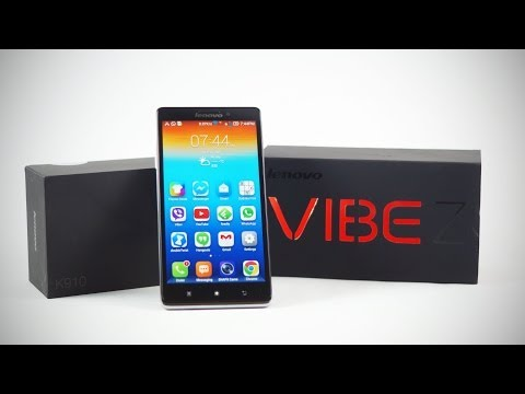 Lenovo Vibe Z K910 (Snapdragon 800 - Dual Sim - WCDMA) - Unboxing & Hands On