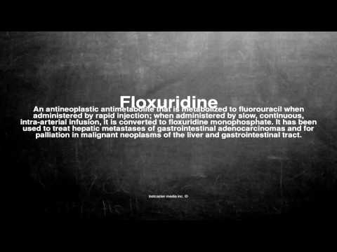 Medical vocabulary: What does Floxuridine mean