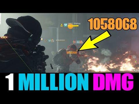 THE DIVISION - 1 MILLION DAMAGE ASSAULT RIFLE BUILD! BEST PVE DAMAGE & DPS BUILD IN PATCH 1.8