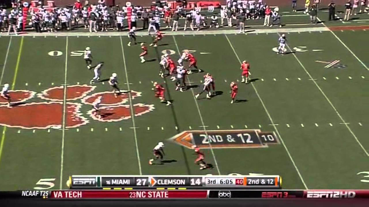 Sean Spence vs Clemson 2010