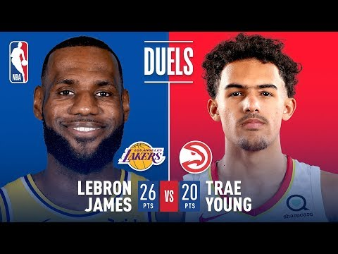 Video: LeBron James and Trae Young Battle In First Career Matchup | November 11, 2018