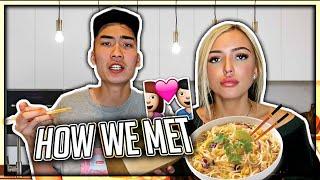 How I Met My Girlfriend STORY (ASIAN MUKBANG)