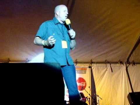 Comedian Mark Lundholm at 12 Step Music Festival