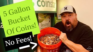 Video Cashing In 5 Gallon Bucket Of Change! No Fees With Coinstar! MP3, 3GP, MP4, WEBM, AVI, FLV Agustus 2019