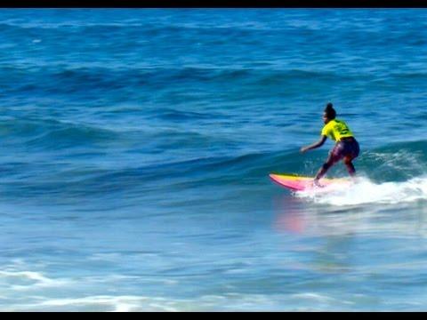 Surfing star Sam Cele