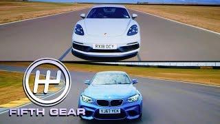 Porsche 718 Cayman GTS VS BMW M2 Shootout | Fifth Gear by Fifth Gear