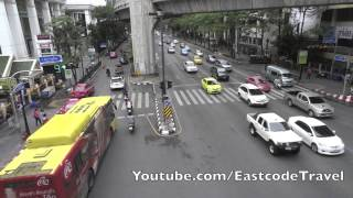Raj Prasong Ratchaprasong Intersection View From Bangkok Skywalk