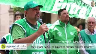 Movilización de ATE en Paraná